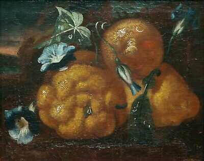 Baroque Italian Still Life with Fruits and Flowers - 18th century  (# 10759)