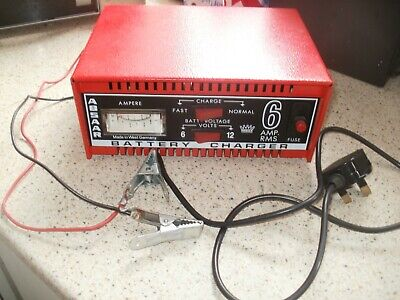 Vintage Absaar 6 Amp Battery Charger, For  6V & 12V Batteries