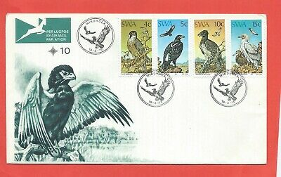 South West Africa stamps. 1975 Protected Birds of Prey FDC. With insert. (E863)