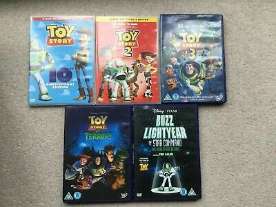 TOY STORY TRILOGY 1- 3 Plus Toy Story Of Terror & BL Star Command  Dvds