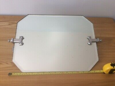 Original vintage 1950's Bathroom Mirror can be angled.  Art deco style. VGC