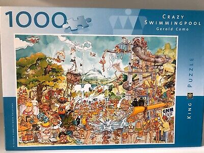 KING PUZZLE SEALED Crazy Swimming Pool Gerold Como 1000 Pc