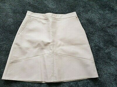 Gorgeous Baby pink Faux Leather Skirt by ZARA BASIC COLLECTION, kinky,fetish,sec