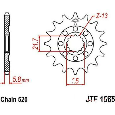 JT Front Sprocket Racing 15T 520 Pitch JTF1901.15SC Polaris Outlaw 525 IRS 2008