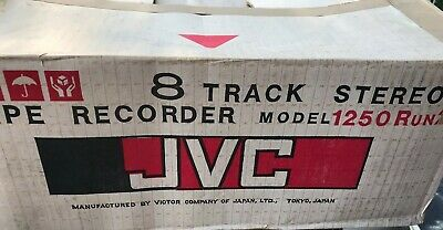 JVC 2-Channel Recorder Model: 1250 Run2 Stereophonic 8-track tape player