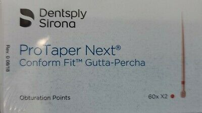 Protaper Next X2 Gutta Percha Points Dentsply Tulsa Dental Root Canal Endo