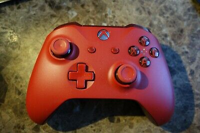 Solid Red Xbox One Wireless Controller Official Genuine Xbox One 3.5mm