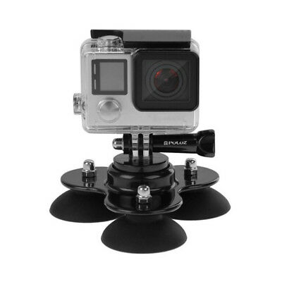 Triple Suction Cup Car Windscreen Dash Mount for Go Pro Hero 1 2 3 3+ 4 3C