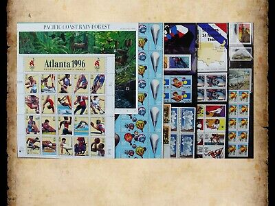 US Postage Stamps Face Value $42 + Unused Lot #136 Sheets Blocks Summer Fun