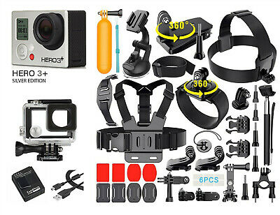 GoPro HERO3+ Silver Edition Camera + 40PCS Accessory + Waterproof Case
