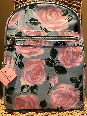 ban.do GET IT TOGETHER BACKPACK~GORGEOUS 'ROSE PARADE' FLORAL PRINT~NWT