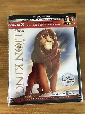 Disney The Lion King(4K Ultra Hd+Blu-Ray+Digital)Target Exclusive Limited