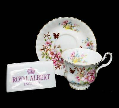 Vintage Royal Albert pretty Country Life series teacup & saucer duo