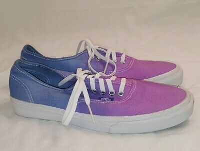4ffa64d5a6da2 Vans Off the Wall Blue Purple Ombre Canvas Lace up Shoes Womens 6.5 OTW  Sneakers