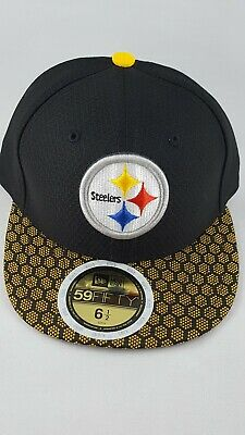 3707b819 Pittsburgh Steelers New Era NFL Sideline On Field 59Fifty Fitted Cap Hat 6  1/2