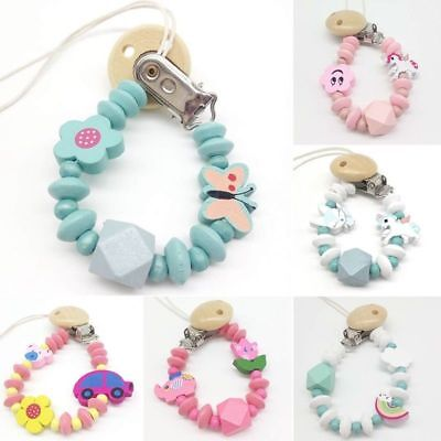 Cute Baby Dummy Clip Holder Pacifier Clips Soother Chains Casual Style Bead Sale