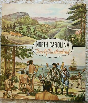 Vintage 1930's North Carolina Outdoor & Tourist Guide with Foldout Roads Map
