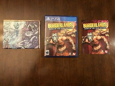 Borderlands: Game of the Year Edition PS4 Playstation 4, Complete w/ FS!!