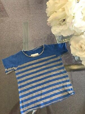 ESP Boy's Blue Gray Striped T-Shirt size 18-24 months Orig.$86