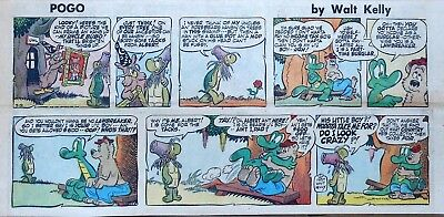 Pogo by Walt Kelly - full color Sunday comic page - March 31, 1957