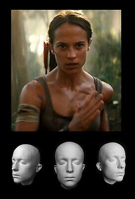 Life Mask Plaster Alicia Vikander Tomb Raider Ex Machina  Cast Lifemask Lifecast