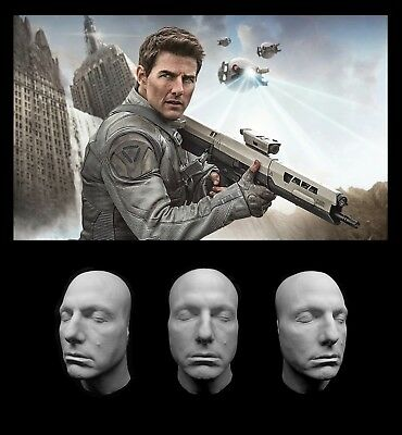 Life Mask Tom Cruise Cast Lifemask Lifecast Light Plastic White Resin Top Gun