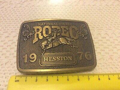 1976 Hesston National Finals Rodeo Belt Buckle