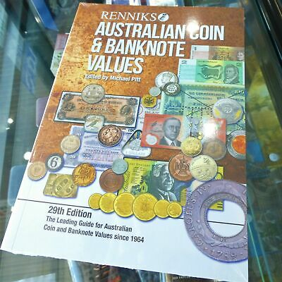 2019 Renniks Australian Coin & Banknote Values Soft Cover Catalogue 29th Edition