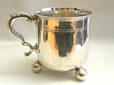 Antique-Victorian Solid Silver Large Heavy Chutney Mug-London-circa 1870