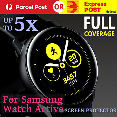 For Samsung Galaxy Watch Active Full Coverage Waterproof Screen Protector Guard