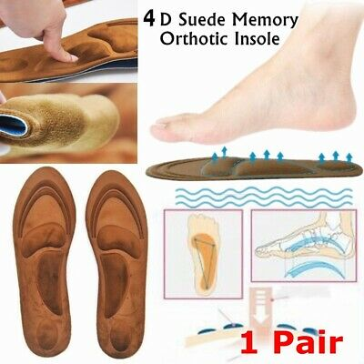 4D Foam Orthotic Arch Sport Support Shoe Insoles Pads Pain Relief  Hot Sale UK