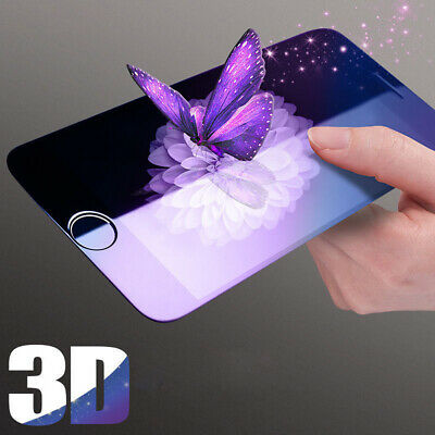 3D Glass Blue Ray Full Coverage Tempered Screen Protector for iPhone 6 6S 7 Plus