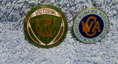#D498. Cwa Country Womens Assoc. Of Victoria & Nsw  Lapel  Badges