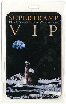 Supertramp authentic 1997 concert Laminated Backstage Pass It's About Time Tour