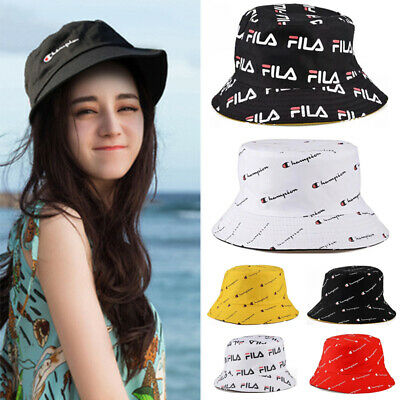 Women Bucket Hat Cotton Fishing Brim Boonie visor Sun Hunting Double Sided Cap