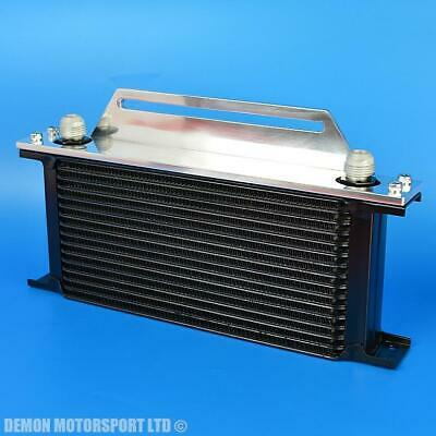 Black 16 Row Oil Cooler with Top Alloy Mounting Bracket - Demon Motorsport