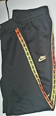 Brand New Tagged Nike Poly Taped Pants Joggers Bottoms Classic Repeat Logo