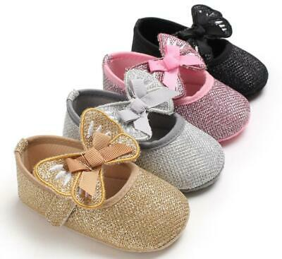 Baby Girl Crib Shoes Child Infant Butterfly Princess Dress Shoes Crawling Shoes