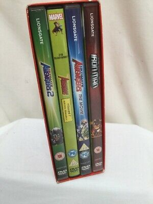 Marvel 4 Animated Feature Collection set DVD Box Set Avengers Iron Man Exc Con