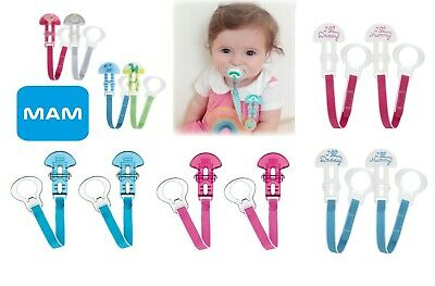MAM Baby Soother Pacifier Dummy Teat Holder Clip Chain Strap