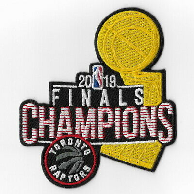 NBA Champions 2019 Toronto Raptors Iron on Patches Embroidered Final Patch