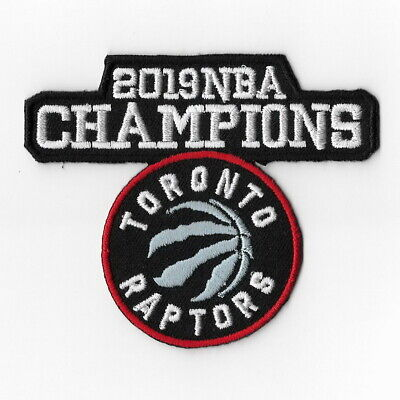 NBA Champions 2019 Toronto Raptors Iron on Patches Embroidered Patch Badge Sew