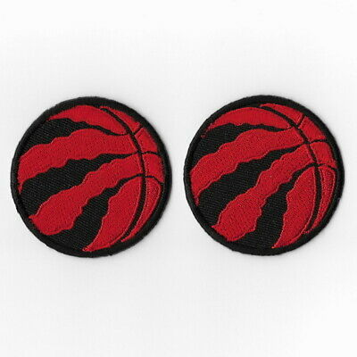 2X NBA Toronto Raptors Iron on Patches Embroidered Badge Patch Round Applique