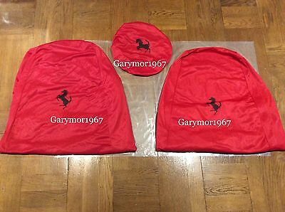 FERRARI 360 F430 430 SEAT COVERS(x2) + STEERING WHEEL COVER  SET GENUINE FERRARI