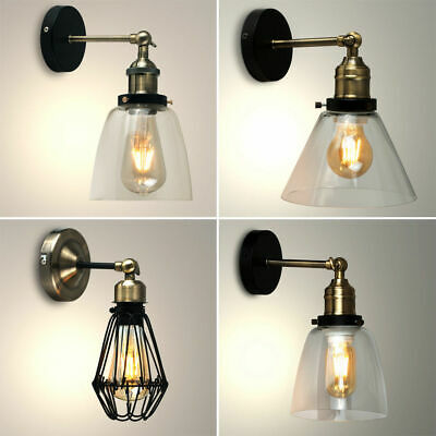 Vintage LED Steampunk Retro Industrial Sconce Indoor Wall Light Home Fitting