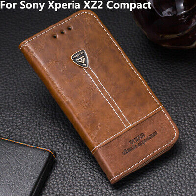 For Sony Xperia XZ2 Compact Flip Leather Wallet Case Cover For Sony XZ2 Mini