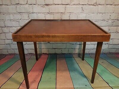 Antique Victorian Edwardian Haxyes Folding Butlers Wooden Tray Table