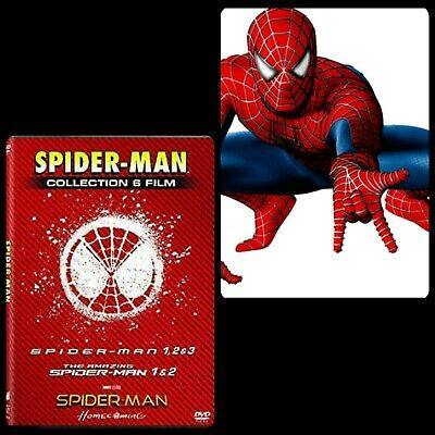 Spider-Man Cofanetto Collection 6 Film In Dvd - Nuovo Sigillato -