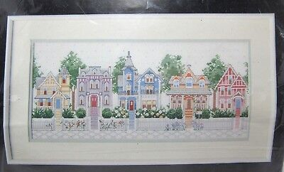 Dimensions Victorian Houses Counted Cross Stitch Kit 3650 Nancy Rossi Opened
