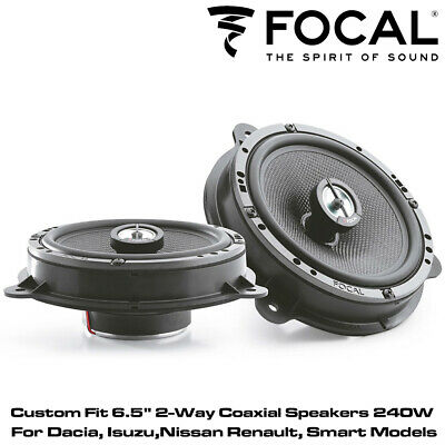 "Focal IC RNS165 - Custom Fit 6.5"" 2-Way Coaxial Speakers 240W For Nissan Renault"